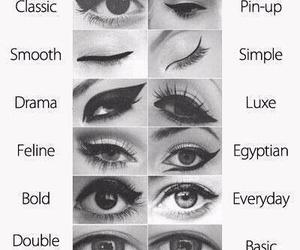 eyeliner, eyes, and makeup image