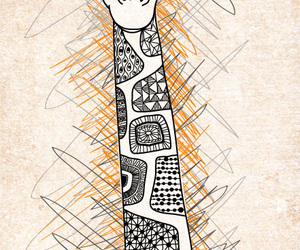 giraffe and drawing image