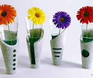 concrete, diy, and flower image