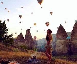 girl, world, and ballonnen image