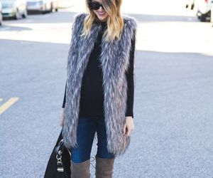black, chic, and fall image