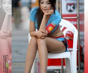 racing model and auto show girl image