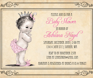 invitation, wording, and baby shower image