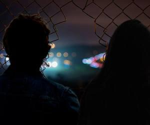 couple, grunge, and night image