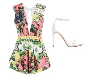 heels, Polyvore, and summer image