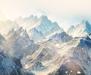 mountains, wallpaper, and snow image