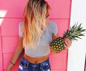 summer, pineapple, and pink image