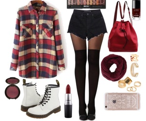 brown, chanel, and dr martens image