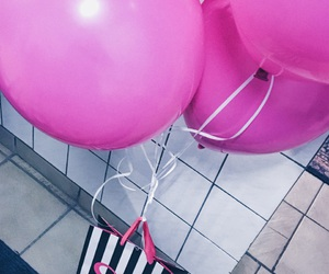 balloon, pinkish, and balon image