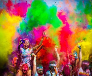 colors, color run, and party image