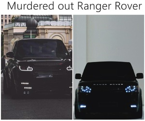 black, range rover, and car image