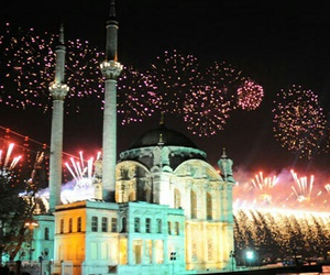 firework, istanbul, and love image