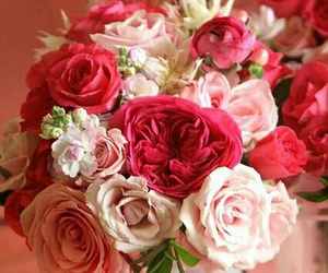 rose, bouquet, and flowers image