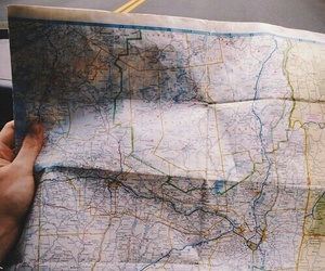 map, travel, and adventure image