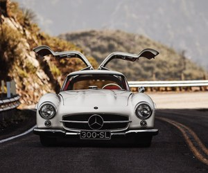 car, classic, and white image