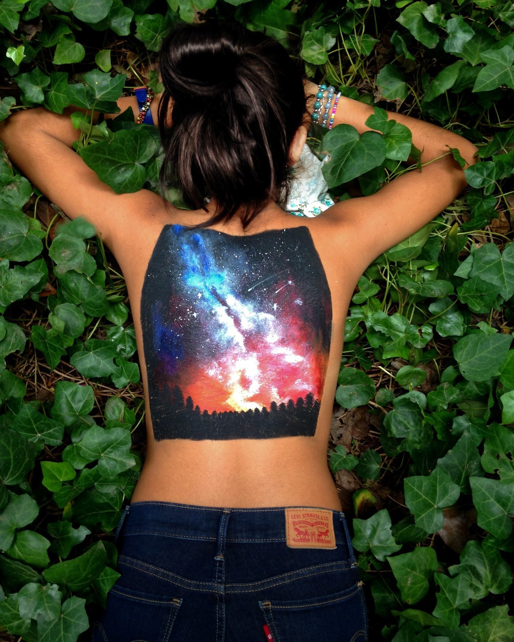 bodypainting, space, and bodypaint image