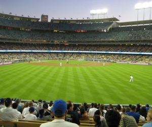 baseball, field, and dodgers image