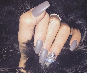 nails, girl, and grey image