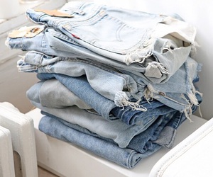 jeans, blue, and shorts image