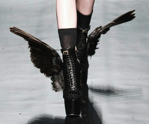 black, shoes, and wings image