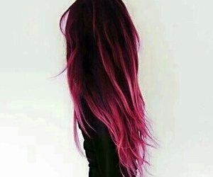 beauty, black, and dyed hair image