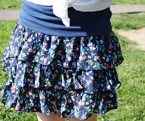 blue, flowers, and skirt image