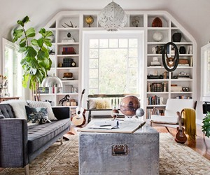 interior, bohemian, and chic image