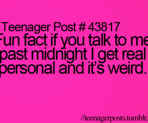 teenager post, fact, and midnight image