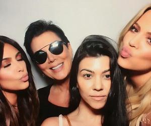 khloe kardashian, kris jenner, and kourtney kardashian image