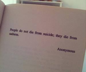 book, quote, and sad image