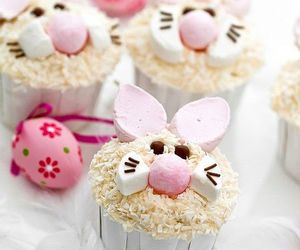 cupcake, bunny, and delicious image