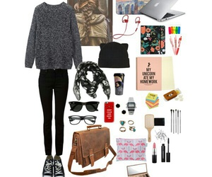 outfits, Polyvore, and university image