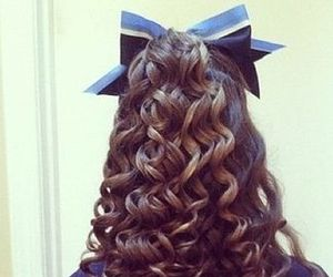 hair, cheer, and curls image