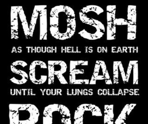 mosh, rock, and scream image