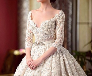 beautiful, beauty, and whitedress image