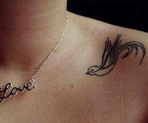 tattoo, love, and bird image