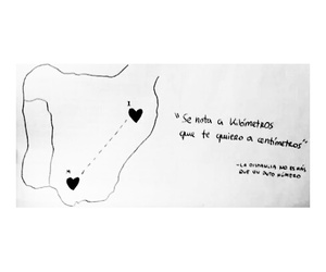 amor, distance, and quote image