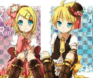 amarillo, hermanos, and rin kagamine image