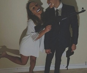 couple, goals, and Halloween image
