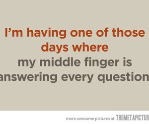 quote, funny, and middle finger image