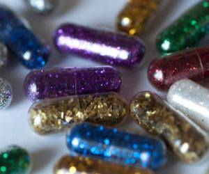pills, glitter, and cute image