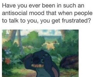 stitch, antisocial, and funny image