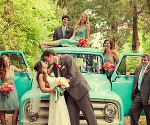 wedding, couple, and vintage image