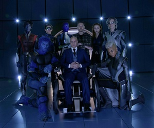 x-men, professor x, and beast image