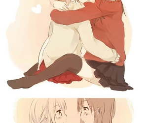 yuri, anime, and girls love image