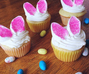 bunny, cakes, and cupcakes image