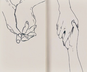 art, drawings, and holding hands image