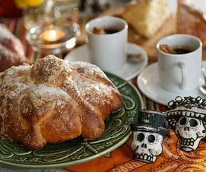dia de muertos, pan de muerto, and mexico image