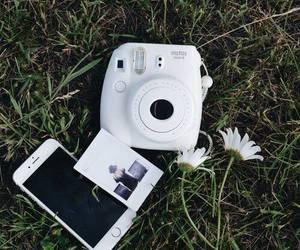iphone, white, and polaroid image