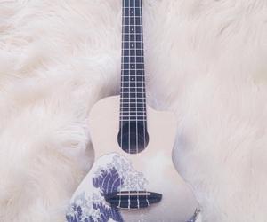 musician, ukulele, and great wave image